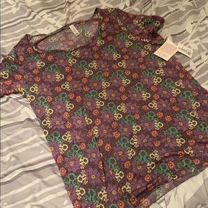 LulaRoe Floral Classic Tee -Size 2X